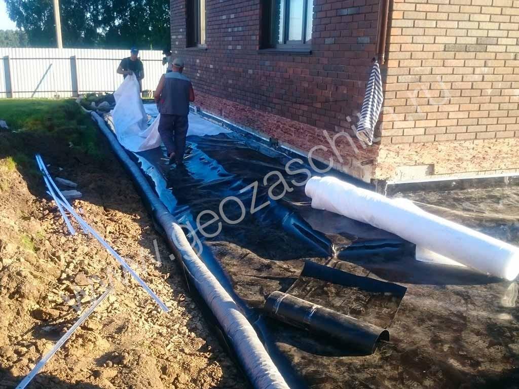 Водоотведение с участка, гидроизоляция отмостки и подвала